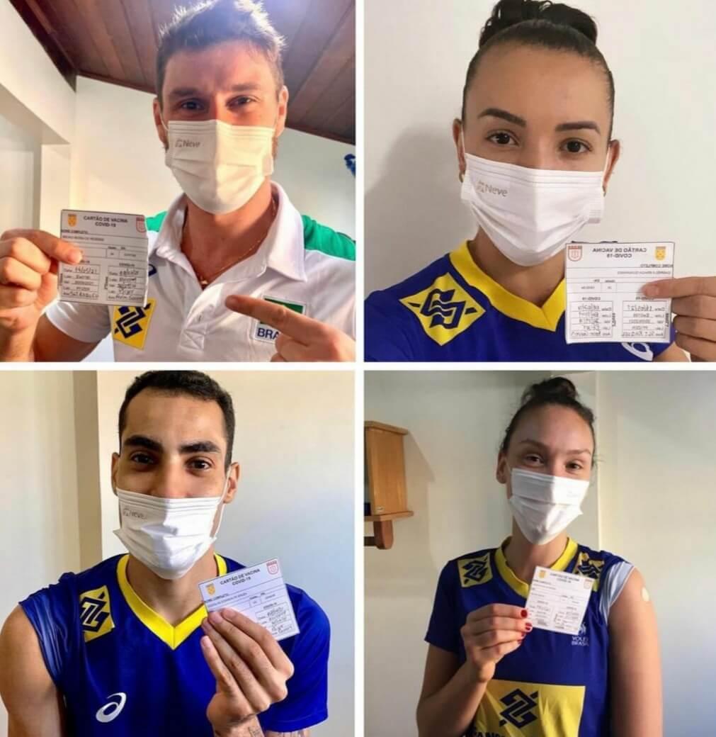 Sem vacinação obrigatória nas Olimpíadas, Brasileiros são vacinados